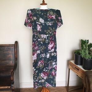 ASOS Reclaimed Vintage Floral Faux Wrap Dress